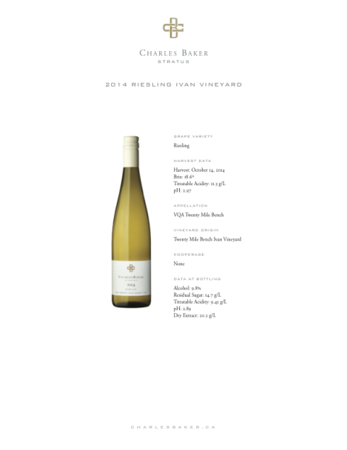 2014 CB Riesling Ivan Vineyard
