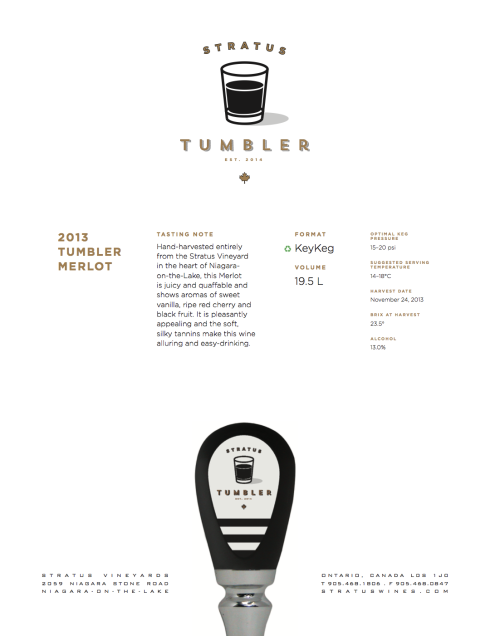 Stratus Tumbler spec sheet
